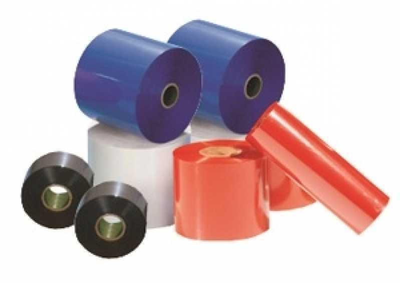 Ribbon Hot Stamping de Impressora Etiqueta Orçamento Alagoas - Ribbon Azul de Impressora Etiqueta