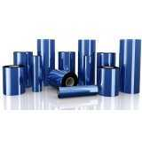 ribbon azul de impressora etiqueta Americana